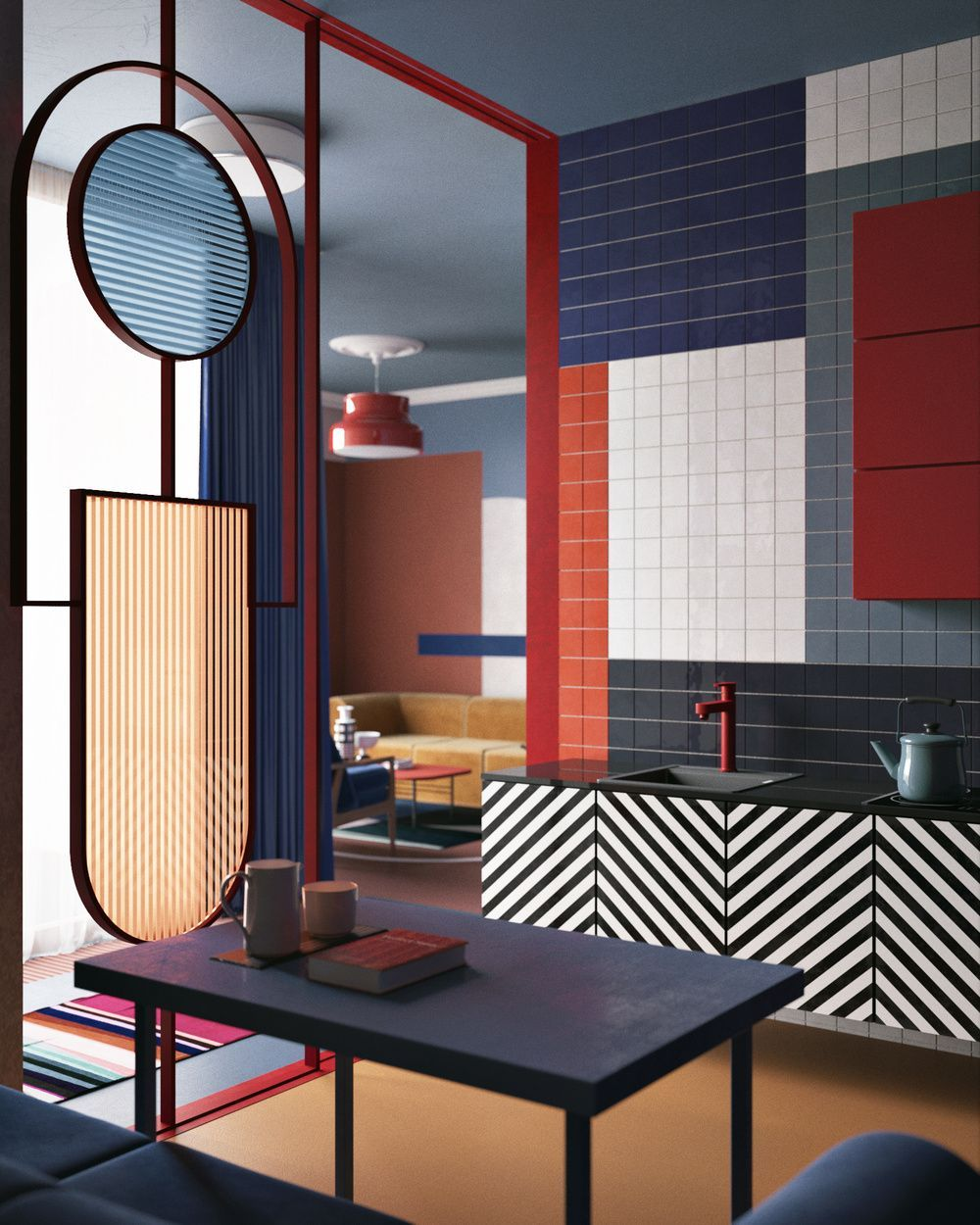 Interior Design Furniture: Color Block A New Design Trend For Your Home