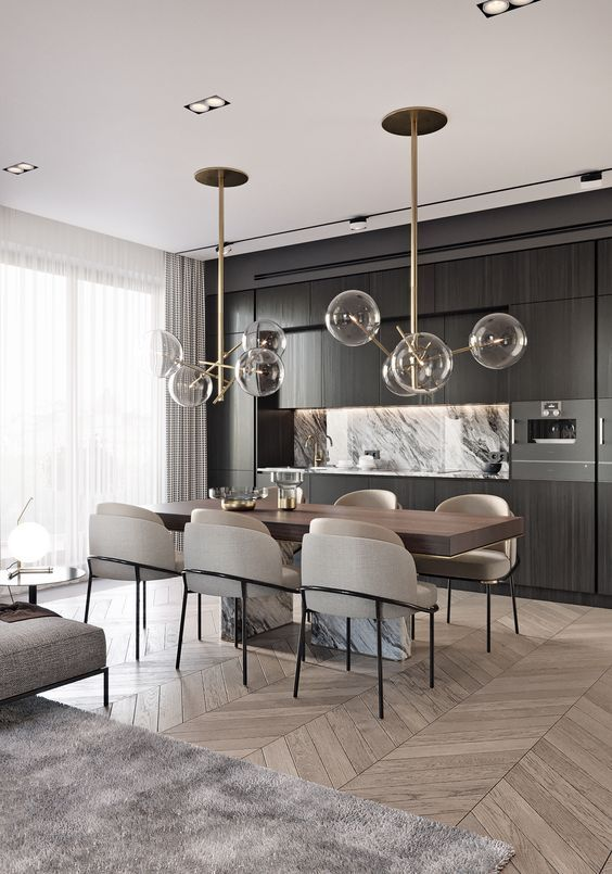 Dining Room Interior Design: Modern Classic Dining Room Style