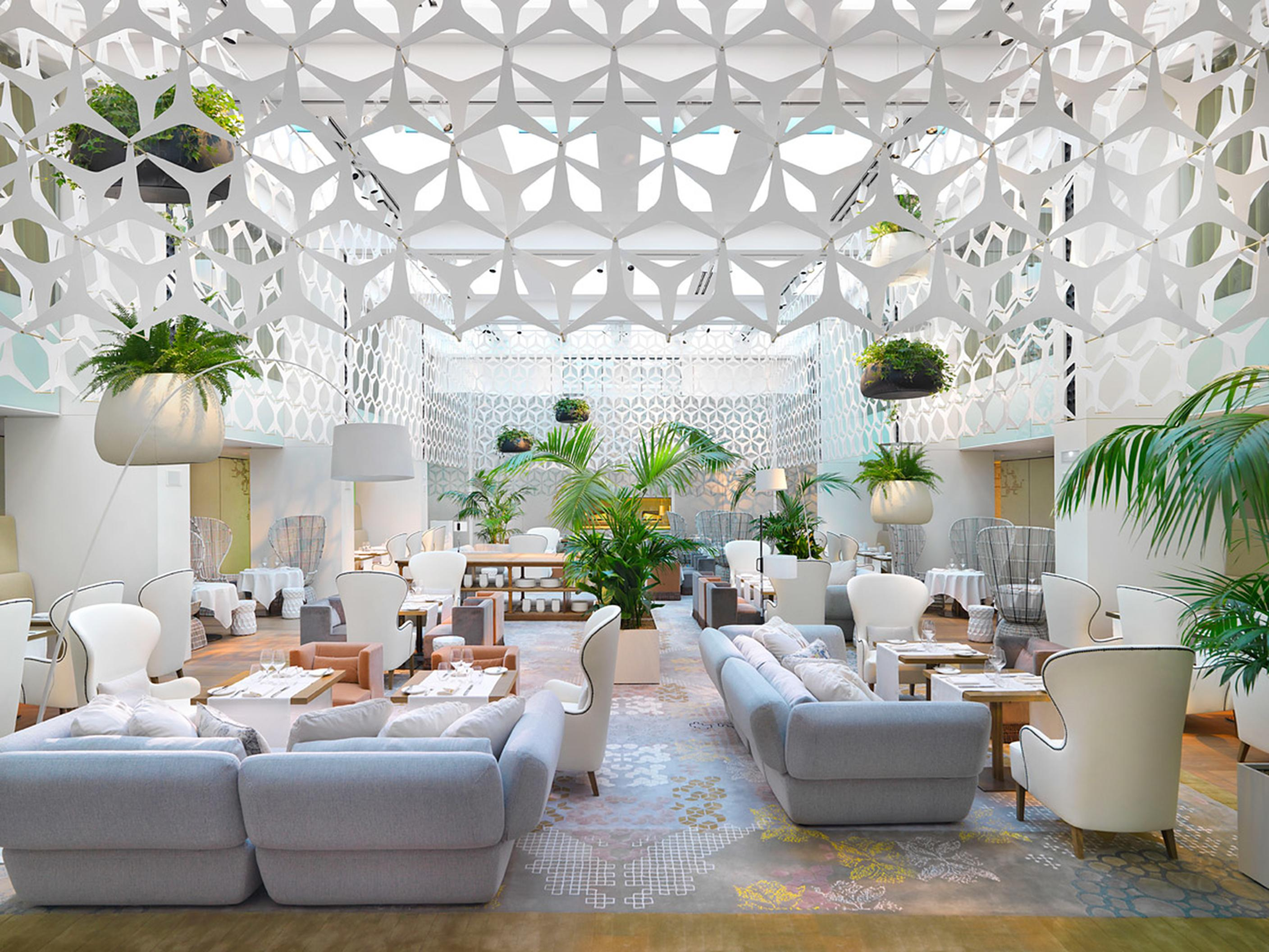 One Of The Most Perfect Examples Luxury Hotels In Barcelona Its Lobby Has A Modern Décor That Invites Hotel Design Furniture Is Simple And
