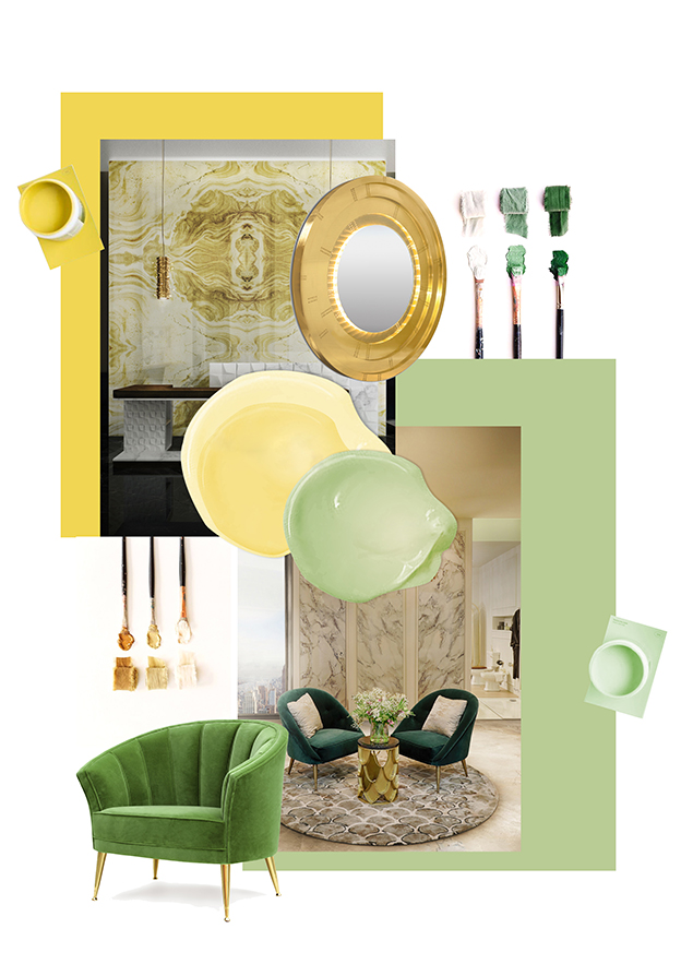 Batroom Trends - Yellow and Green